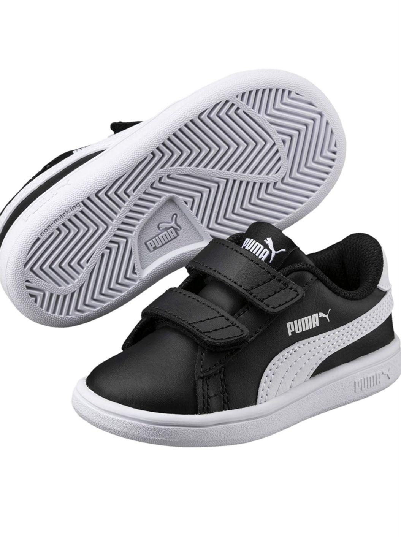 Paire de chaussures PUMA Smash v2 en cuir- Noir, Taille 26