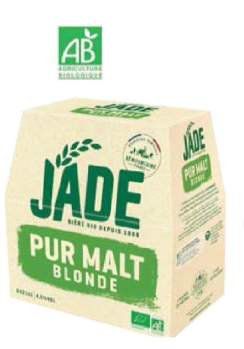 Pack de 6 bières blondes BIO Jade - 6x25cl
