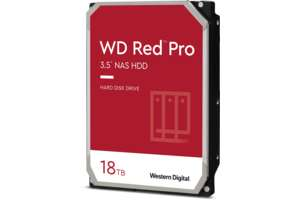 """Disque dur interne 3.5"""" Western Digital Red Pro pour NAS - 18 To, 7200 tr/min"""