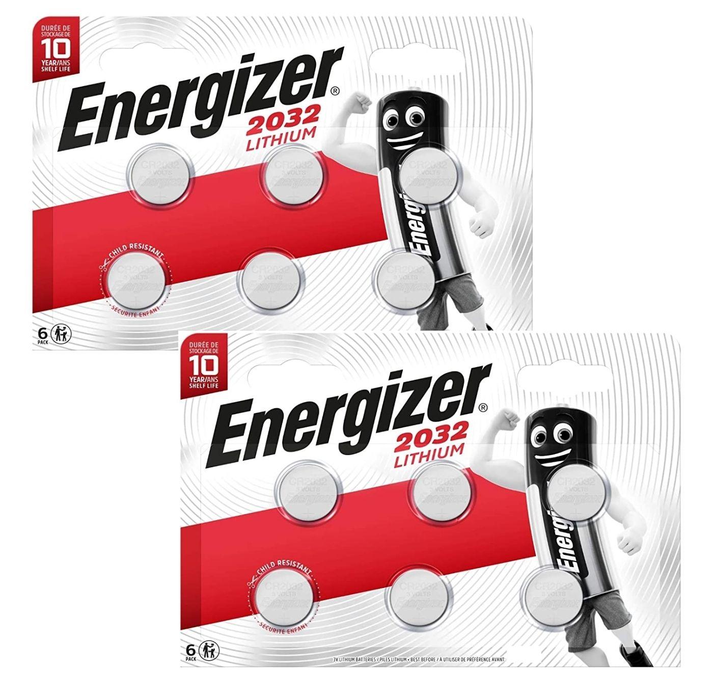 Paquet de 12 piles Energizer CR2032