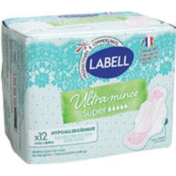 Paquet de 12 Serviettes hygiéniques Labell Ultra Mince Super