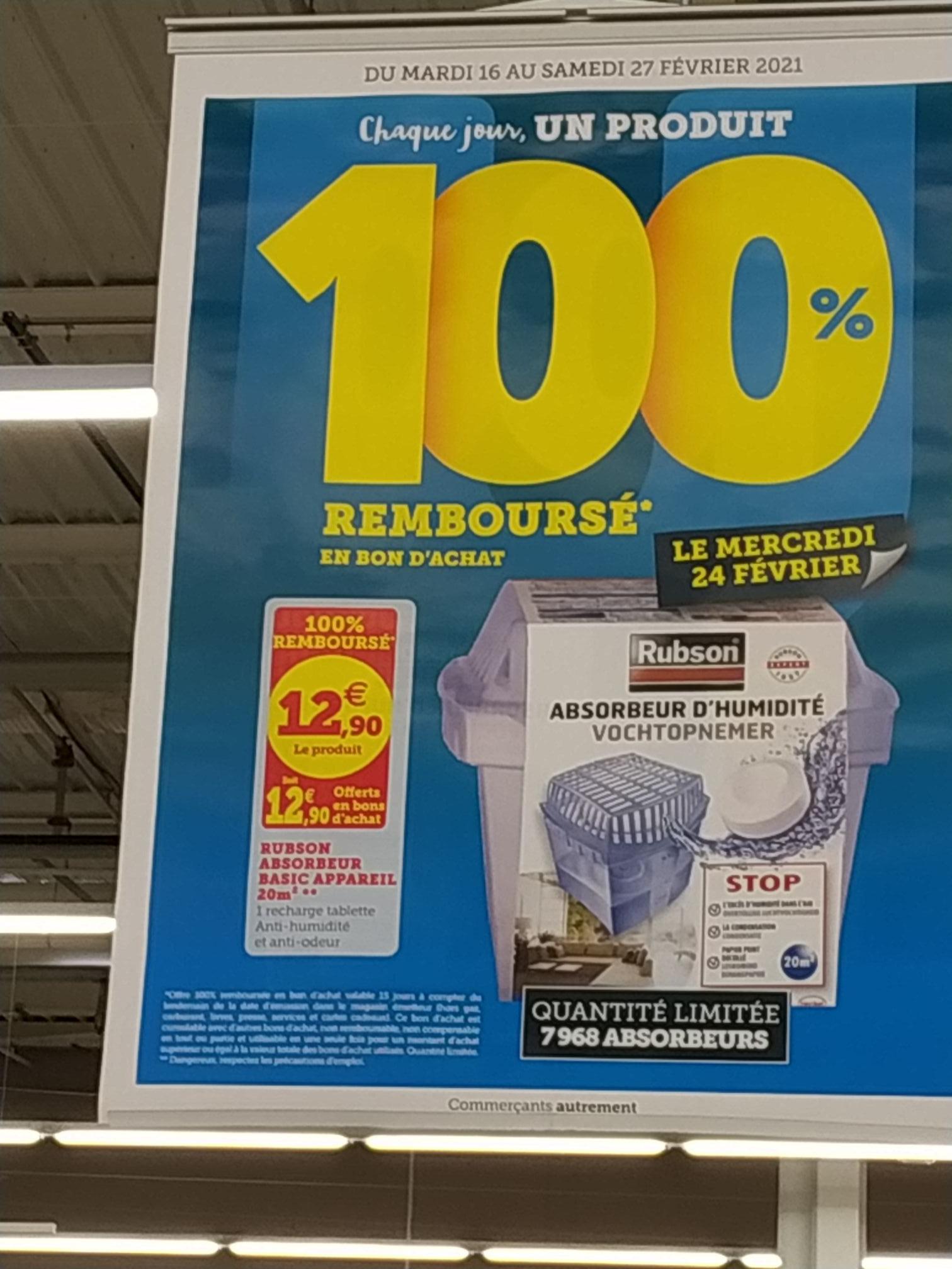 Absorbeur d'humidité rubson (100% remboursé en bon d'achat) - Montmorot (39)