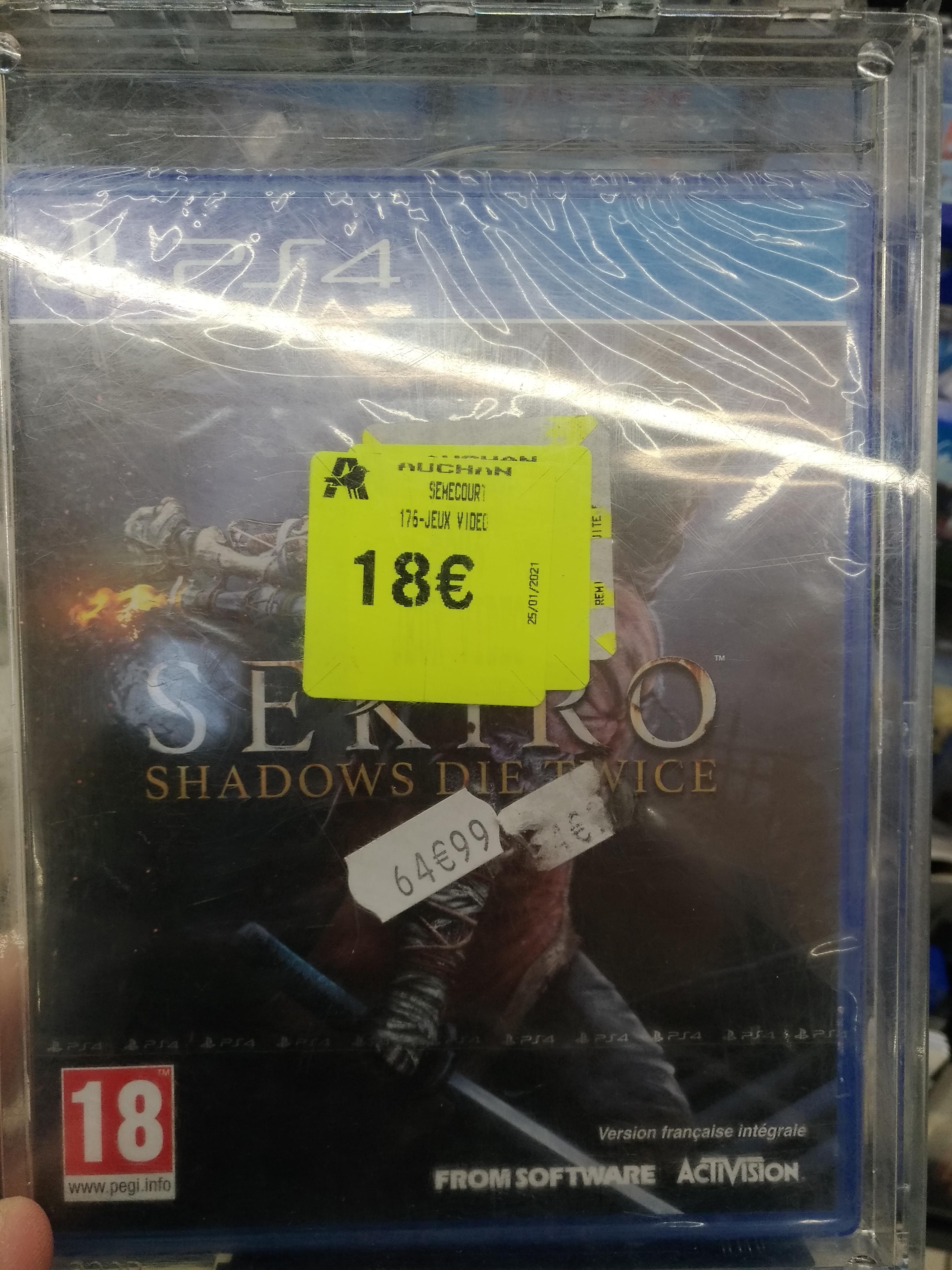 Sélection de jeux PS4 en promotion - Ex : Sekiro Shadow Die Twice - Semécourt (57)