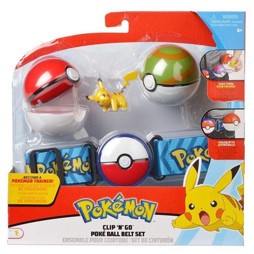 Ceinture Pokémon Nest Ball avec figurine Pikachu (5 cm)