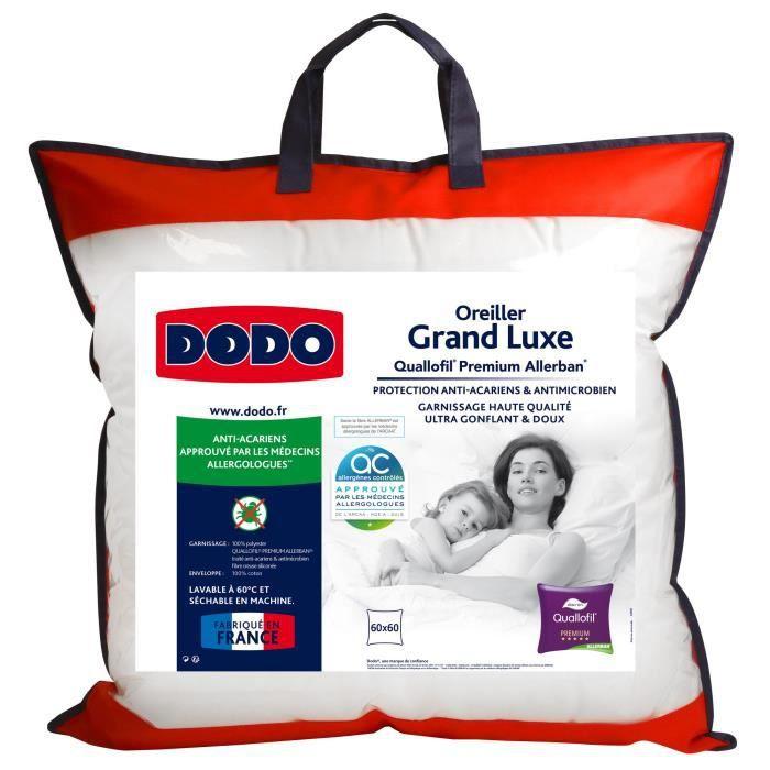 Oreiller Dodo Grand luxe Quallofil Allerban - 60 x 60 cm