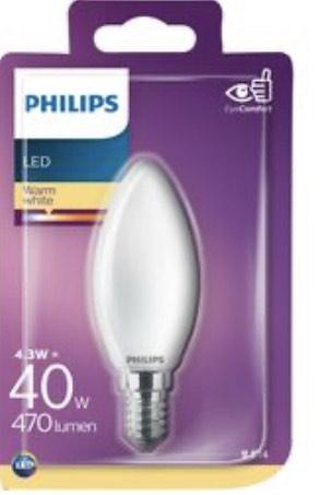 Ampoule LED Philips led E14 flamme - 40W