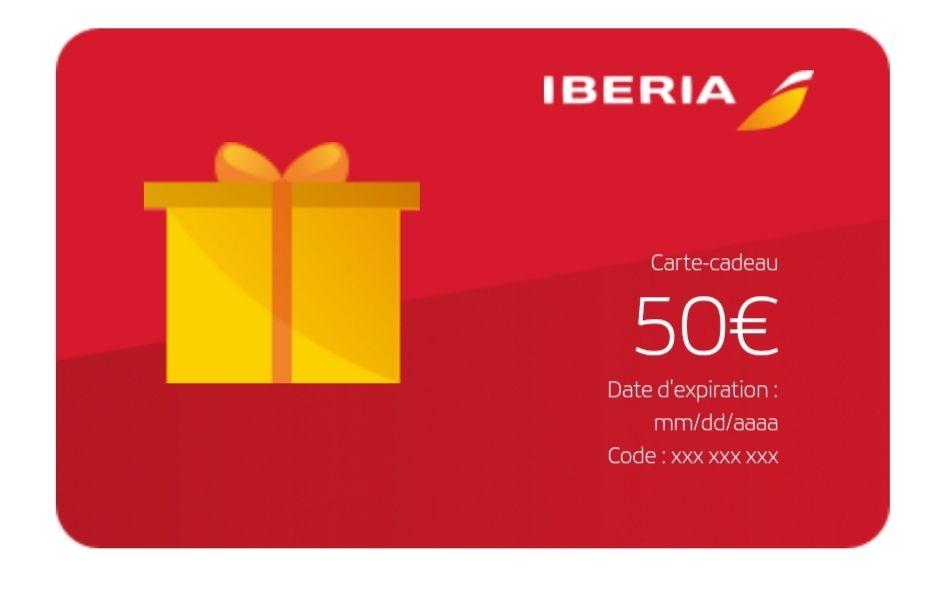 Jusqu'à 25% de réduction sur les cartes cadeau - Ex : Carte cadeau de 50€