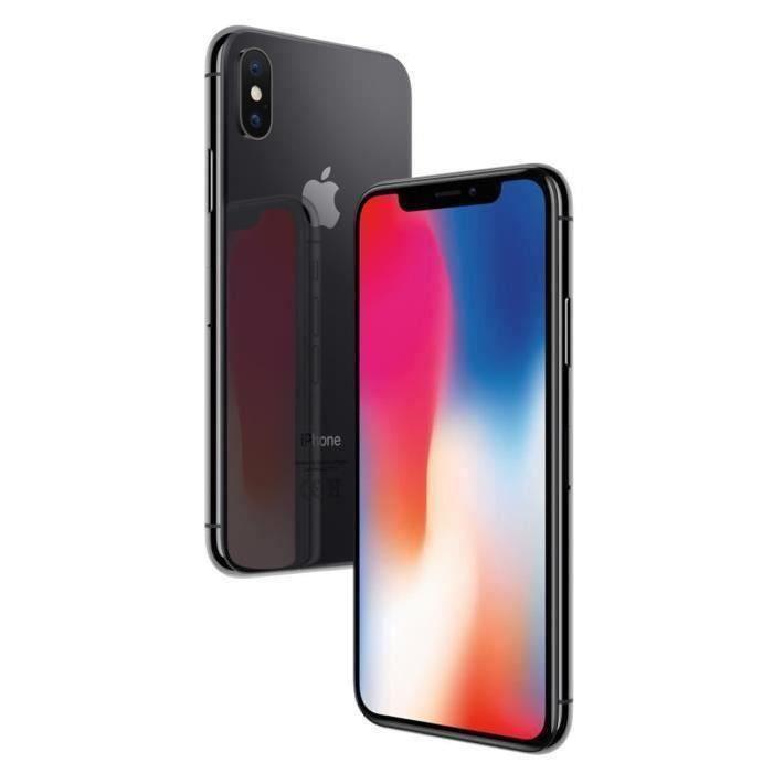 """Smartphone 5.8"""" Apple iPhone X - 64 Go, Gris sidéral (Reconditionné - Vendeur tiers)"""