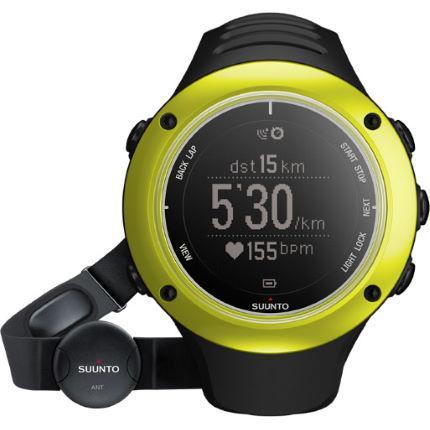 Montre GPS Suunto Ambit 2 S (avec cardio-fréquencemètre, noire/citron vert)