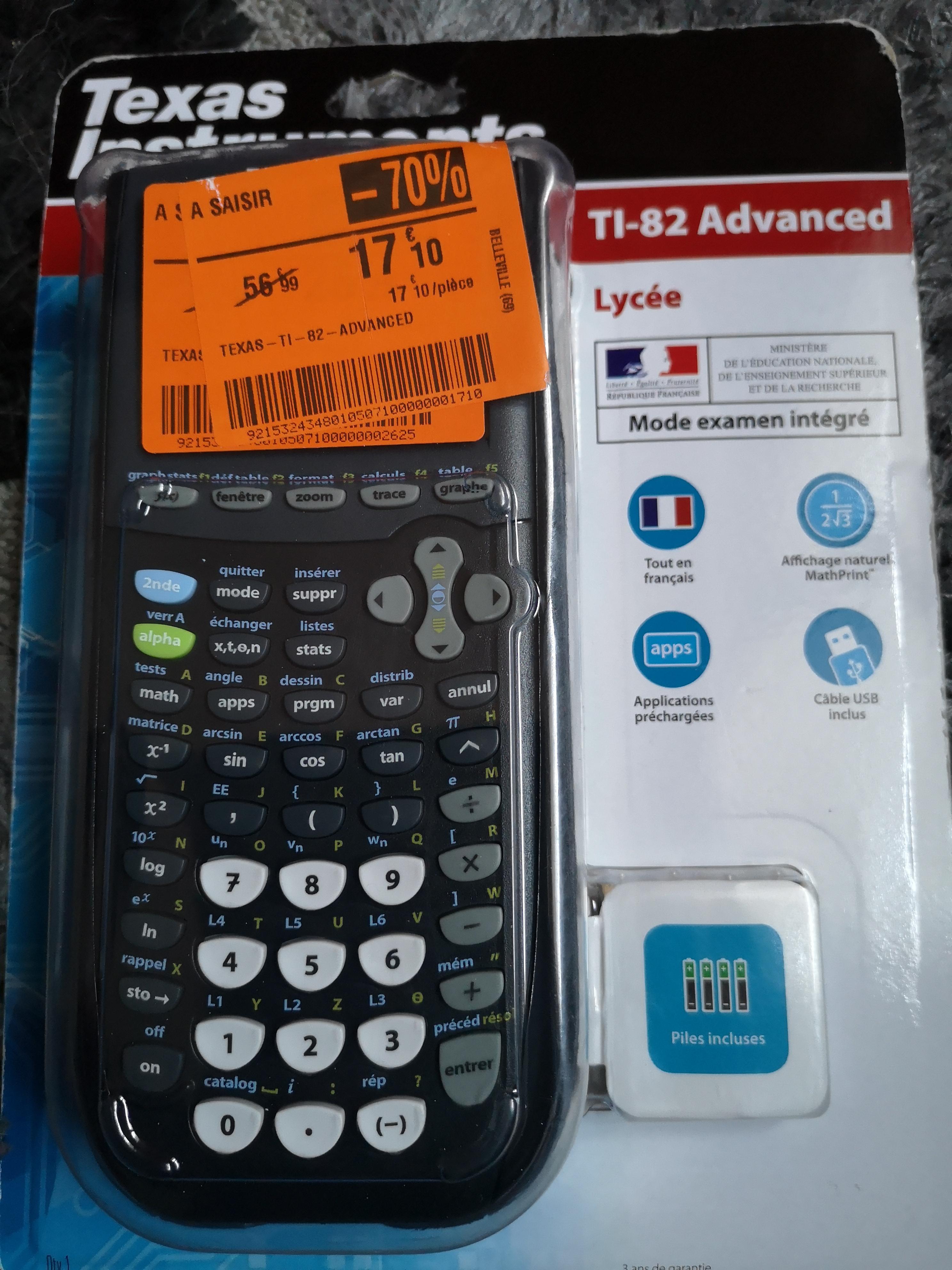 Calculatrice Texas instruments ti-82 advanced - Belleville-en-Beaujolais (69)