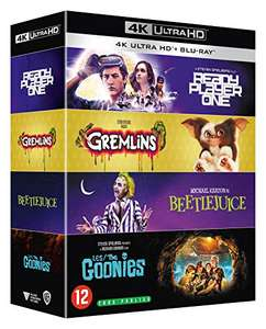 Coffret Années 1980 4 Films Collection : Les Goonies + Gremlins + Beetlejuice + Ready Player One (4K Ultra HD + Blu-Ray)