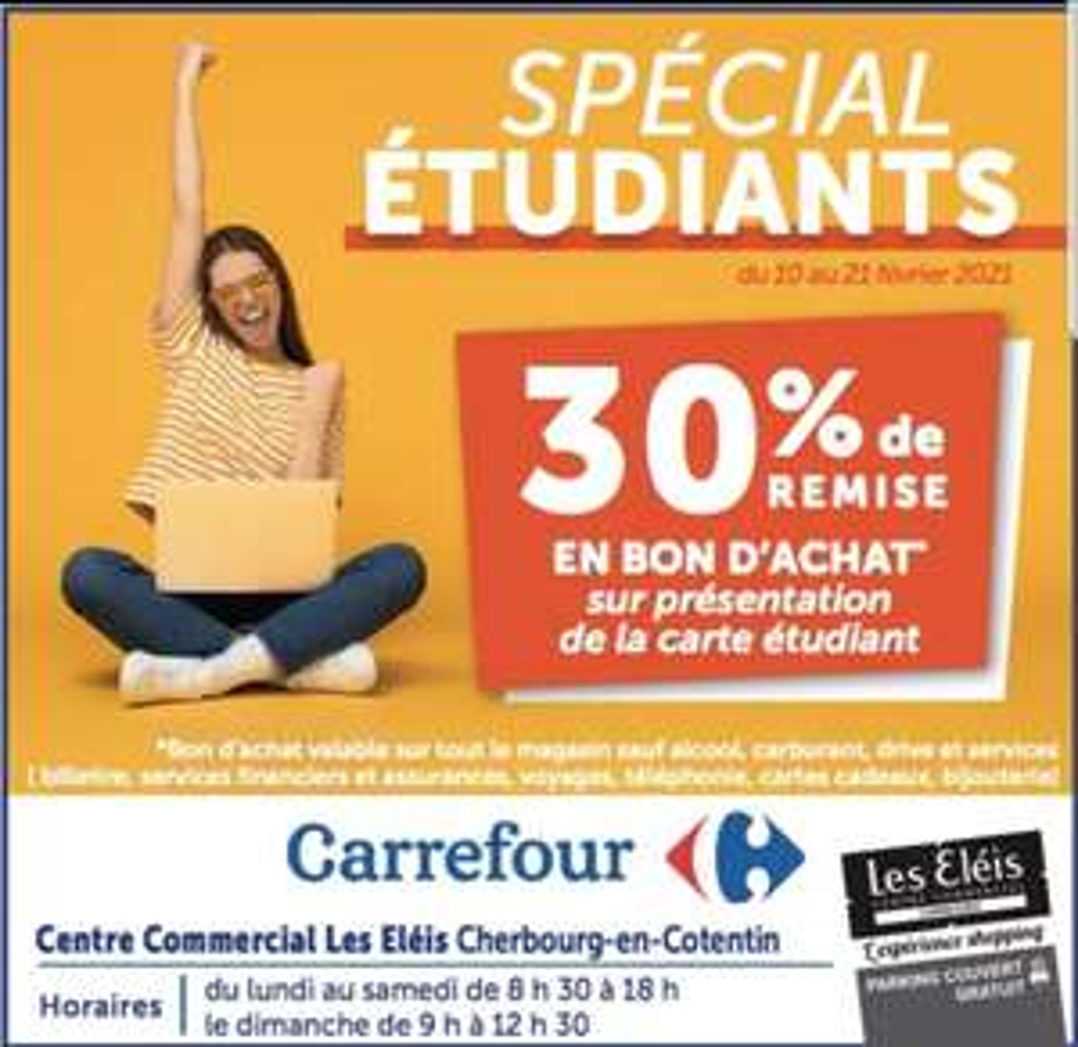 [Étudiants] 30% offerts en bon d'achat sur tout le magasin - Cherbourg-en-Cotentin (50)