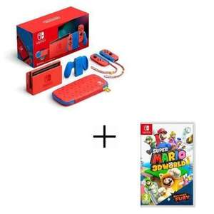 Pack Console Nintendo Switch - Edition Limitée Mario + Super Mario 3D World - Bowser's Fury