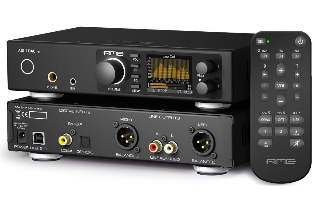 DAC / Amplificateur Casque / Préamplificateur - RME ADI-2 DAC FS V2 - DSP, EQ, IEM out.