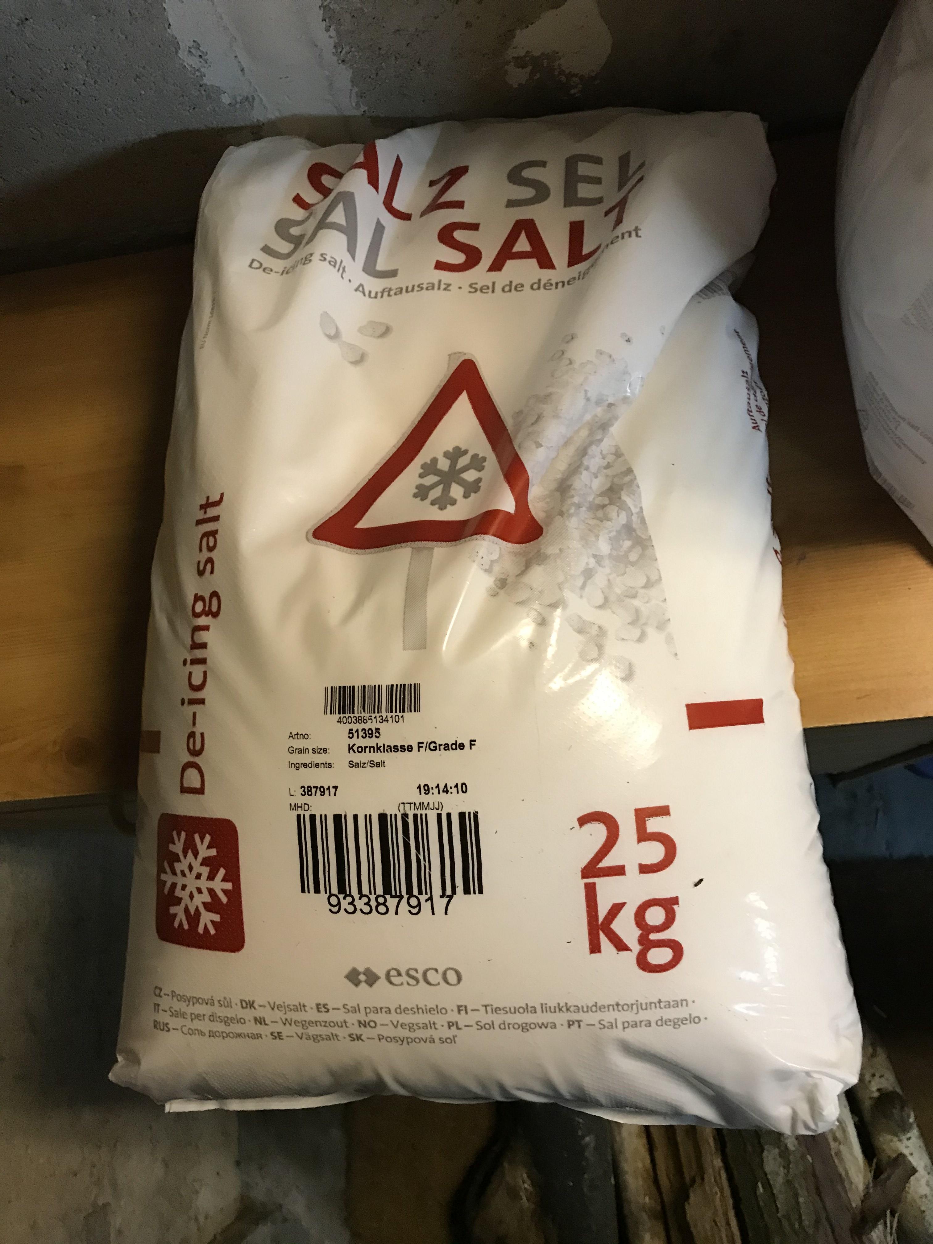 Sac de sel de déneigement (25 kg) - Chambourcy (78)