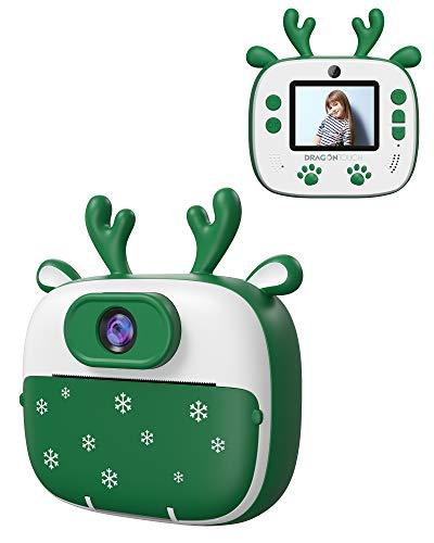 Appareil photo enfants avec impression Instantanée DragonTouch InstantFun2 - Vert (vendeur tiers)