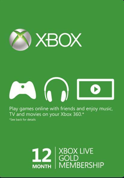 Abonnement de 12 mois Xbox Live Gold (Dématérialisé)