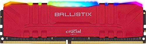Barette mémoire RAM Crucial Ballistix RGB BL8G32C16U4RL - 8 Go, 3200 MHz, CL 16