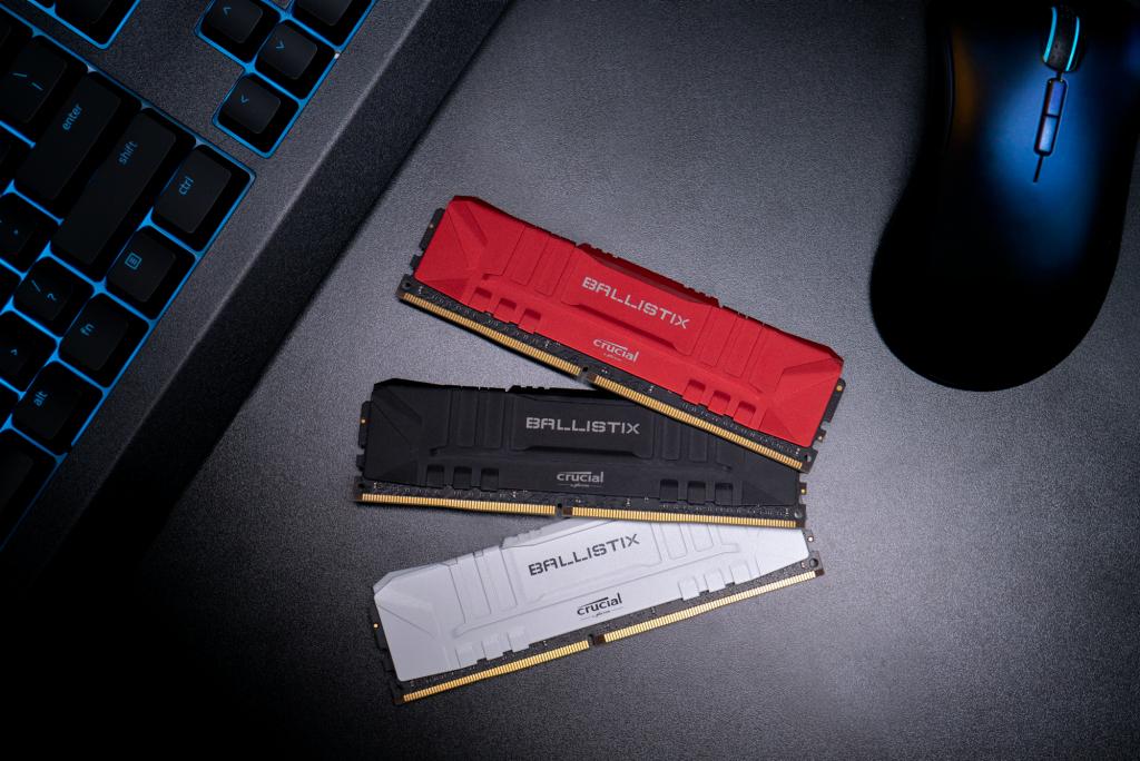 Sélection de Mémoire DDR4 Crucial Ballistix en promotion - Ex : Kit mémoire RAM Crucial Ballistix 32 Go (2x16 Go) - DDR4, 3200 MHz, CL16