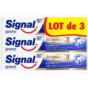 """Sélection de produits en promotion - Ex: Lot de 3 Tubes de Dentifrice """"Signal Integral 8"""" (via 3,06€ Carte Fid)"""