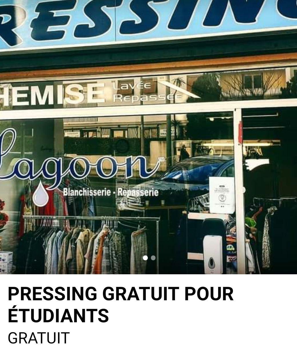 [Etudiants] Pressing offert - Lagoon & Fripeshop Montpellier (34)