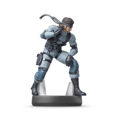 Amiibo Solid Snake - Collection Super Smash Bros - N°75 (2eme figurine offerte en ce moment)