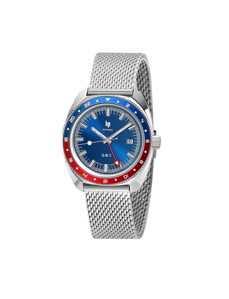 Montre LIP Marinier GMT - bracelet en acier