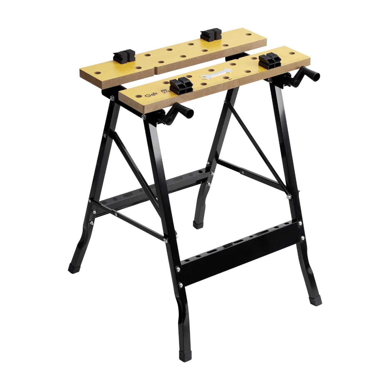 Établi de serrage pliable Workzone - 63x60.5x76cm (max. 150kg)