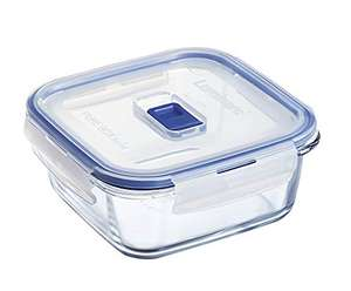 Boîte de Conservation hermétique en verre carré Luminarc Pure Box Active - 0.76 L