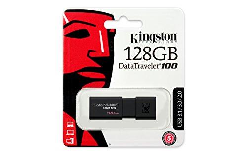 Clé USB 3.0 Kingston DataTraveler 100 G3 (DT100G3/218GB) - 128 Go, Noir (Vendeur tiers)