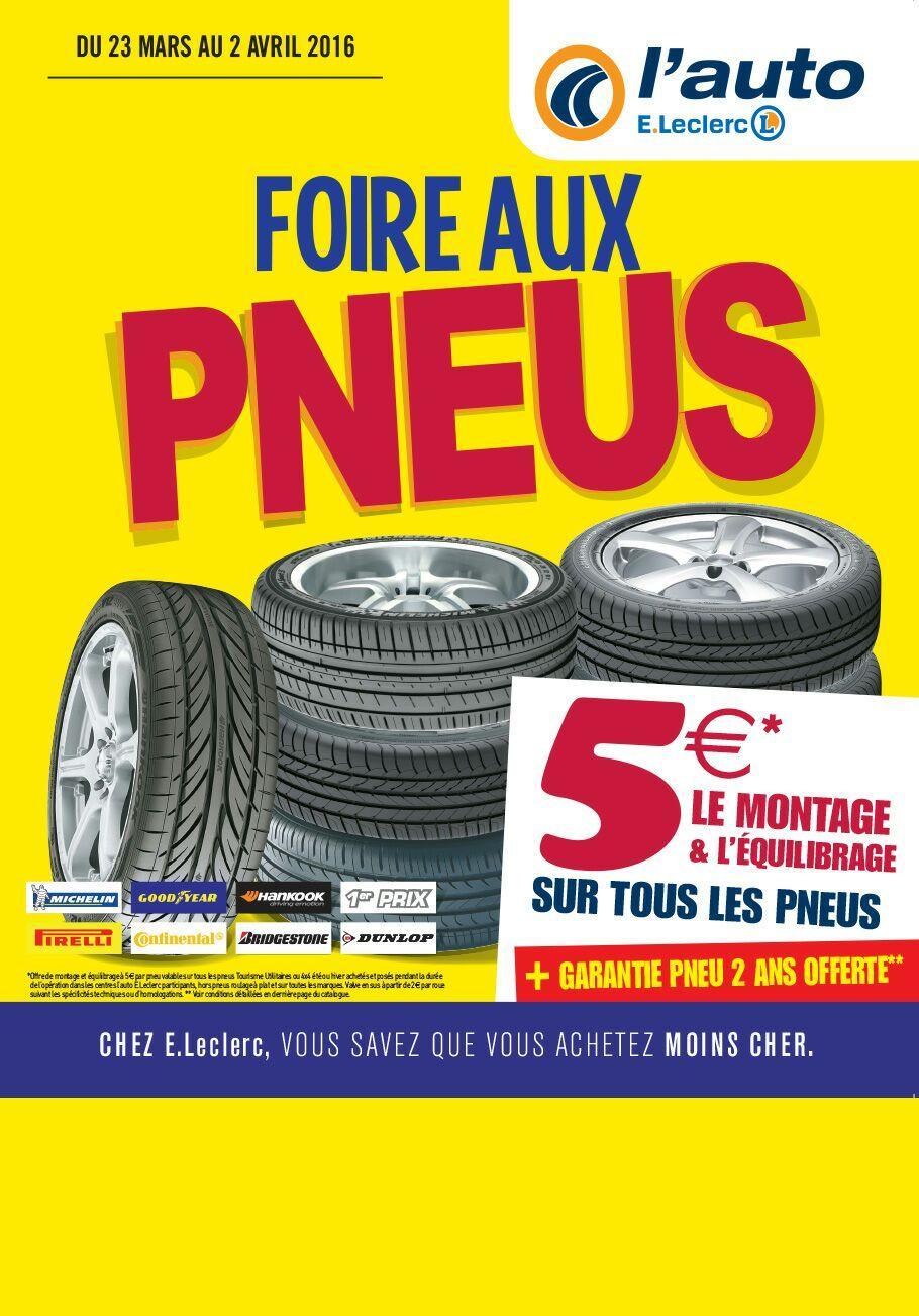 Montage et  équilibrage avec  garantie 2 ans  par pneu