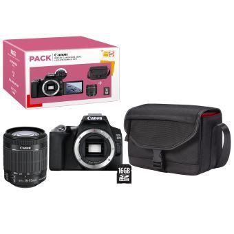 Pack Fnac Appareil photo Reflex Canon EOS 250D + Objectif EF-S 18-55 mm f/4-5.6 IS STM + Carte SD 16 Go + Sac d'épaule CB-SB130 (Noir)