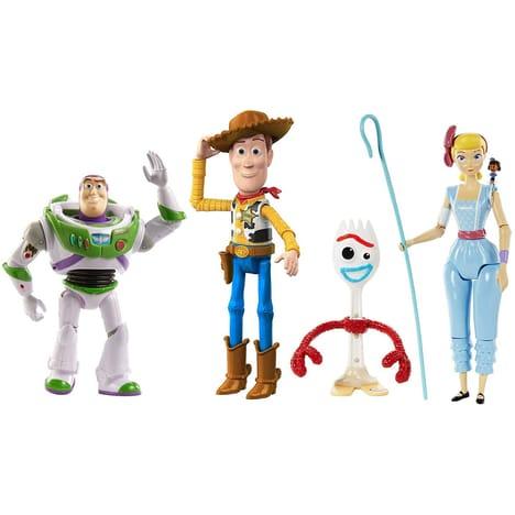 Coffret TOY STORY 4 Mattel - 4 figurines articulées (12 à 23 cm) : Buzz l'Eclair, Woody, Bo, Forky + Bonus