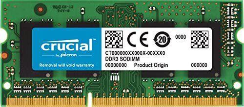 Barette de mémoire RAM Crucial (CT8G3S160BM ) - 8Go, SoDimm, DDR3, 1600 Mhz, CL11 (Vendeur tiers)