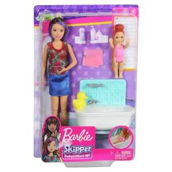 Coffret Barbie Babysitter Heure du bain