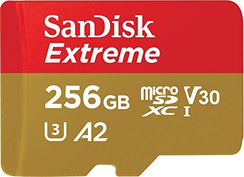 Carte mémoire microSDXC SanDisk Extreme V30 A2 - 256 Go + Adaptateur