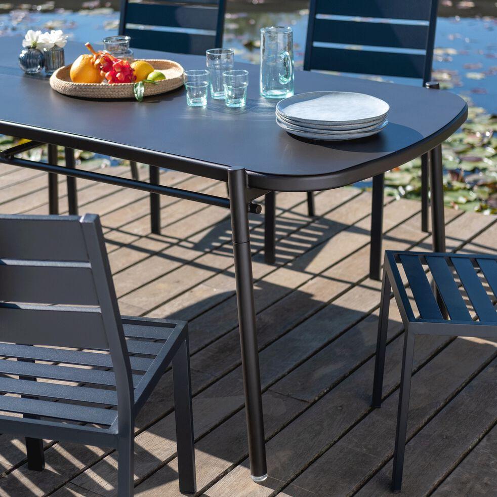 Table jardin aluminium Matias - 6/10 personnes - noir