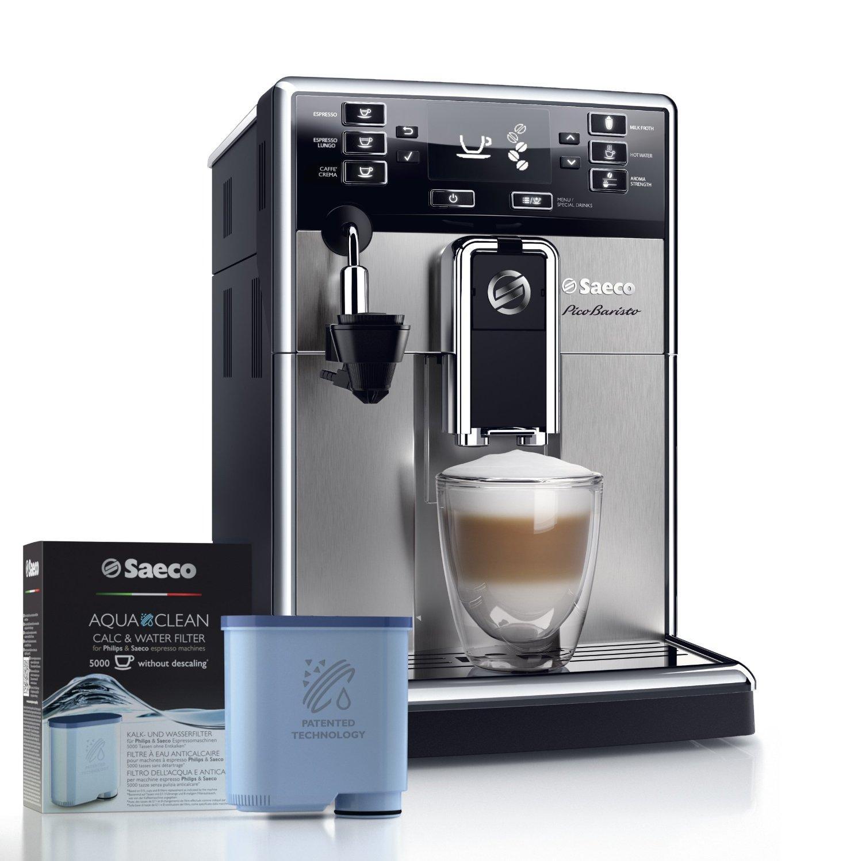 Machine à café automatique Saeco HD8924/01 Picobaristo avec système Aqua Clean