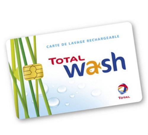 50% de réduction sur les cartes lavage prépayées Total Wash - 90€ à 45€, 45€ à 22.5€ ou 15€