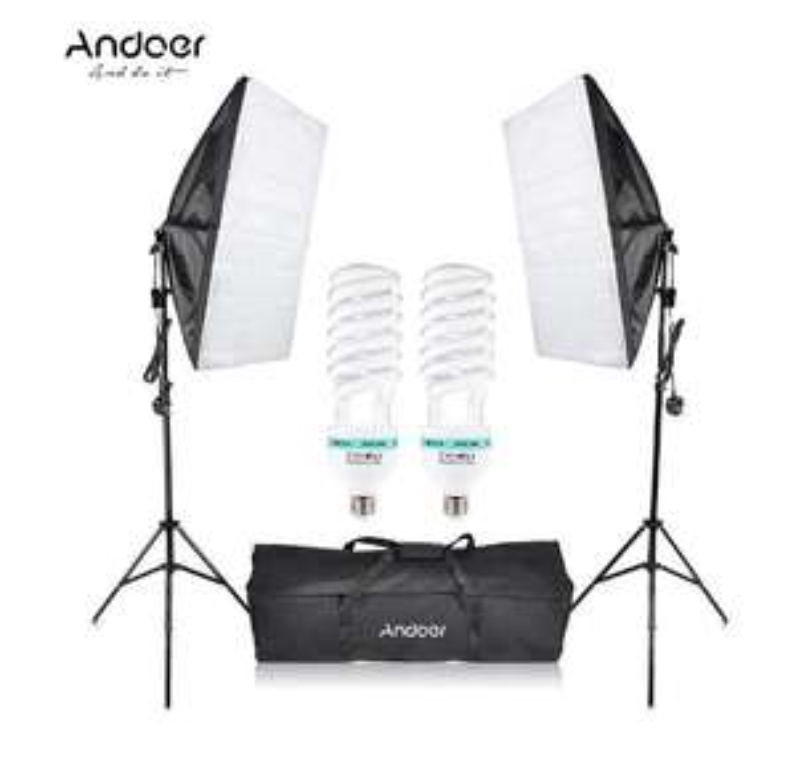 Kit d'éclairage studio photo Softbox Andoer