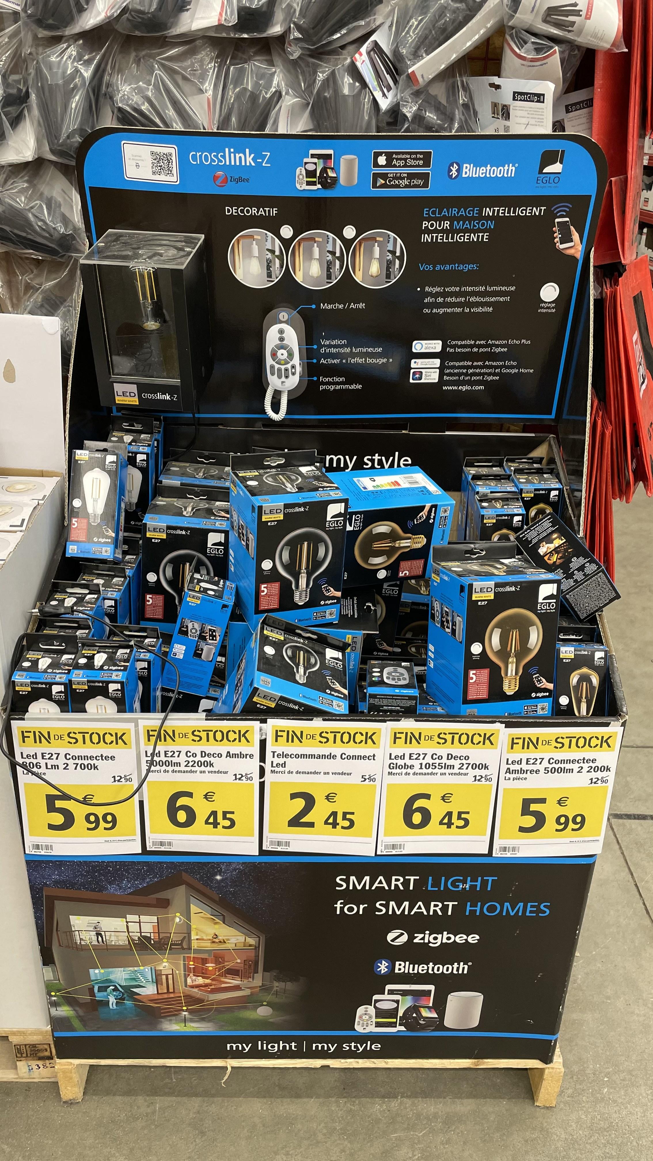 Sélection de produits Eglo en promotion - Ex : Télécommande connectée LED - Metz (57)