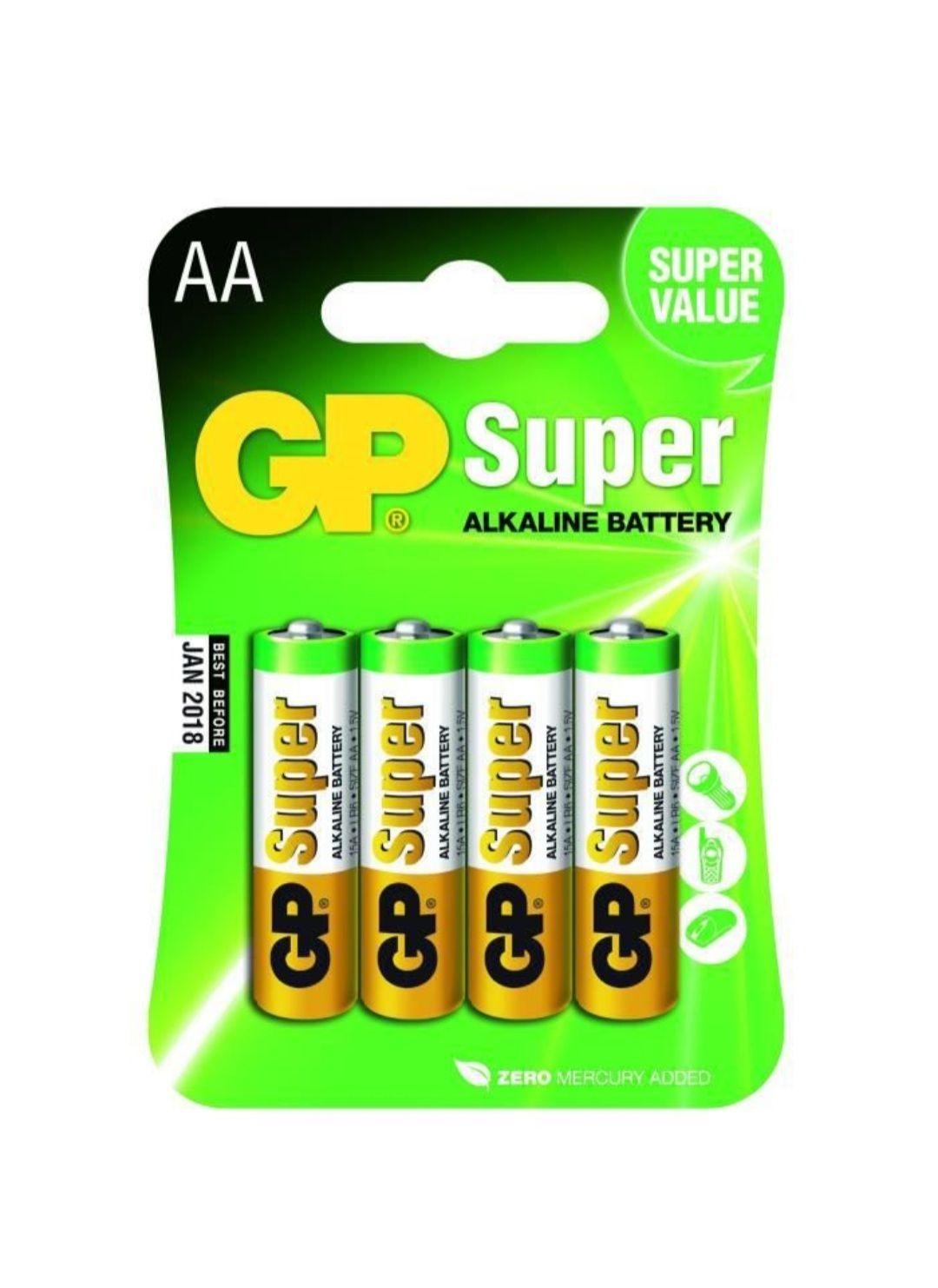 Lot de 4 piles alcaline AA / LR06 GP batteries