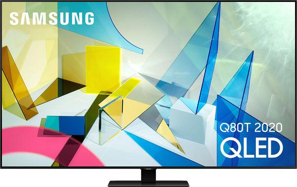 """TV 50"""" Samsung QE50Q80T 2020 - QLED, 4K, Dalle 50 Hz, HDR10+, Smart TV (Via ODR de 239.75€)"""