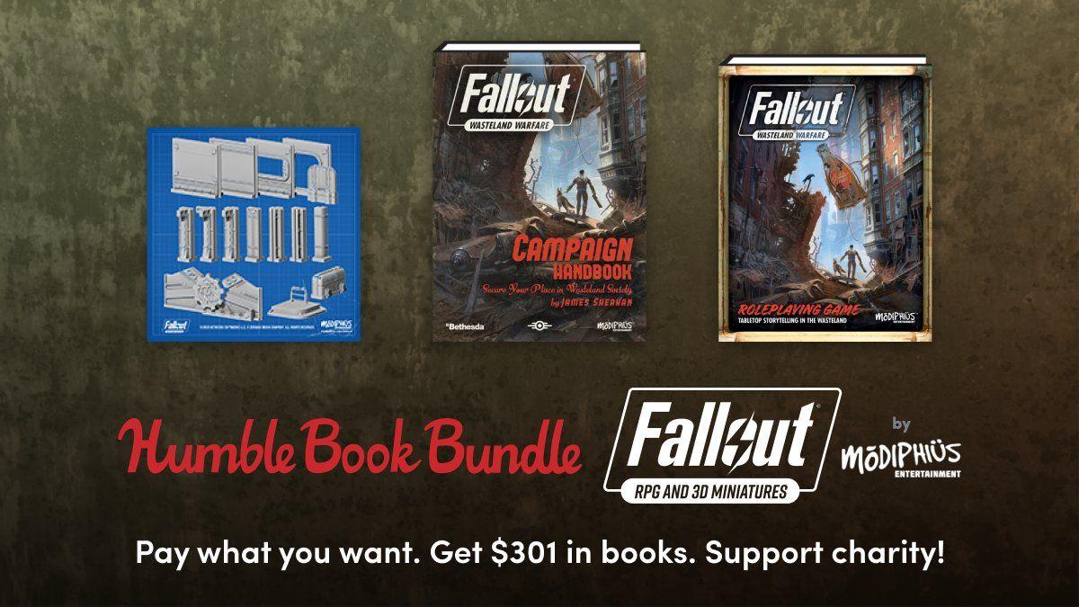 Humble Books Bundle : Fallout RPG & 3D Miniatures à partir de 1€ (Dématérialisés)