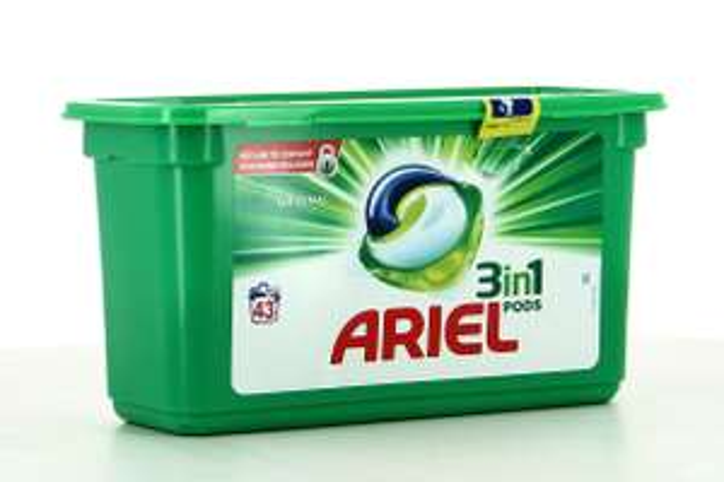 Paquet de 43 capsules de lessive liquide Ariel Pods (via 10.15€ sur carte de fidélité et BDR)