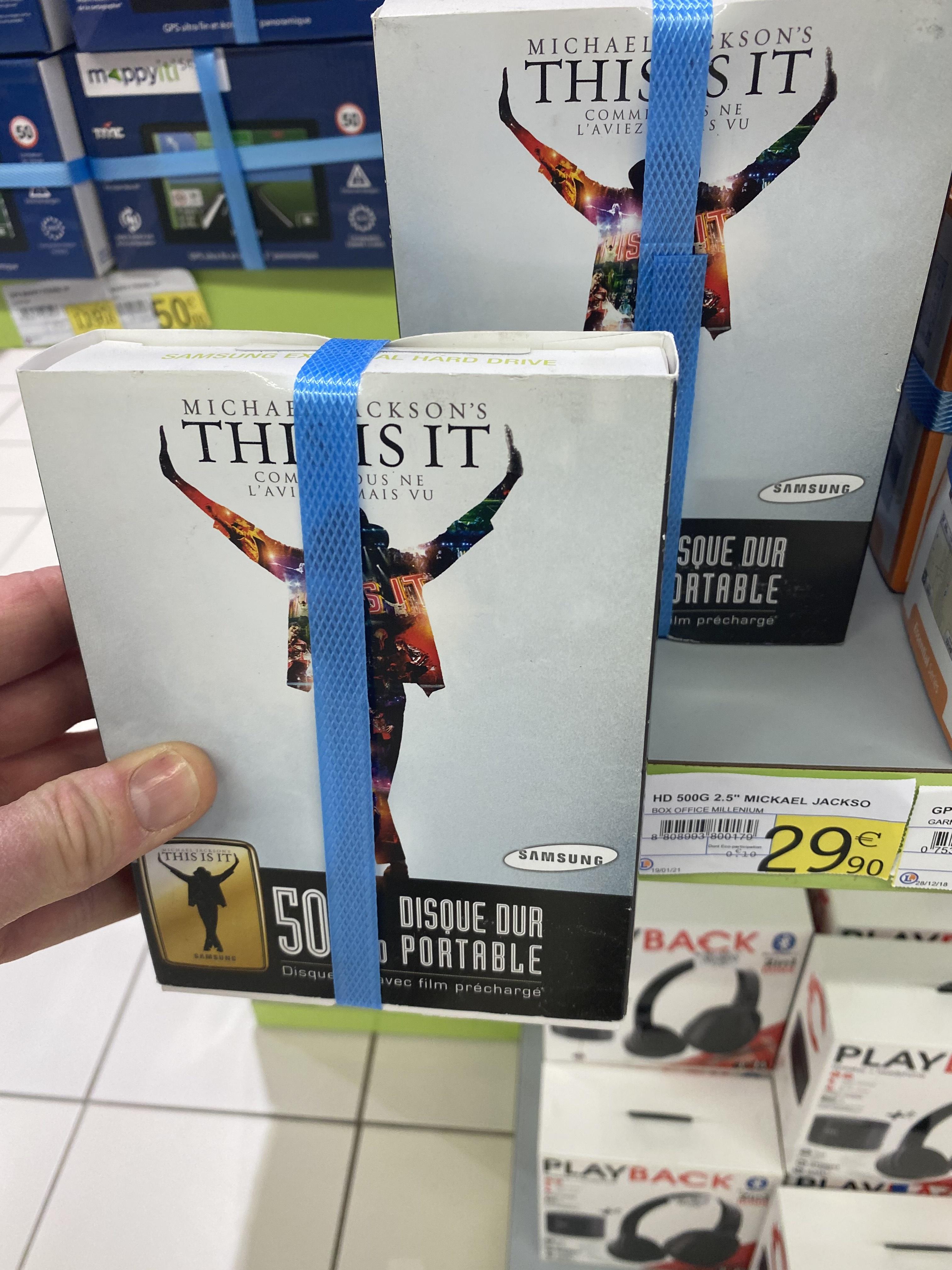 Disque dur externe Samsung S2 Portable Édition Michael Jackson (500 Go) - Osny (95)