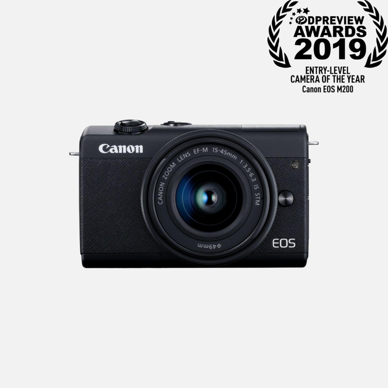 Appareil photo Canon EOS M200 noir et objectif EF-M 15-45mm