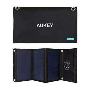 Chargeur Solaire USB Aukey -  21W 2A