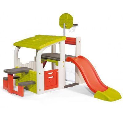 Smoby Fun Center: Toboggan Basket Foot Escalade