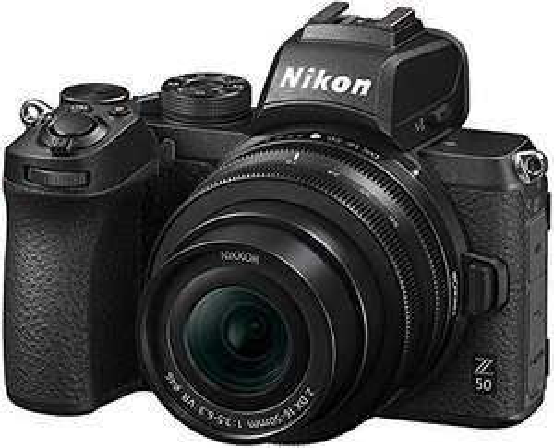 Appareil Photo Nikon Z50 + Objectif DX 16-50 / 3.5-6.3 VR + Trépied + SD 64Go + Livre